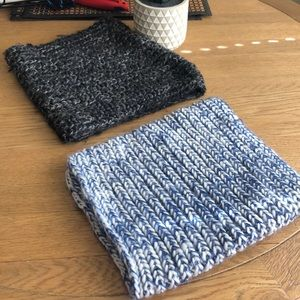 Accessories - knit cowl neck circle tube scarfs